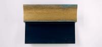 H72S3E Blauw - goud handgegrondeerd